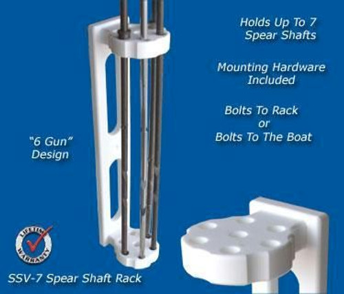 Deep Blue Marine Spear Shaft Rack for 7 Spears