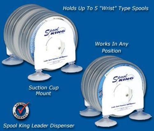 Deep Blue Marine Wrist Spool Leader Dispenser - For 3 Spools