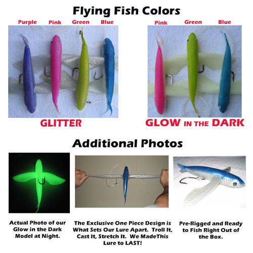 Frenzy Ballistic Flying Fish Lure - Blue Glitter