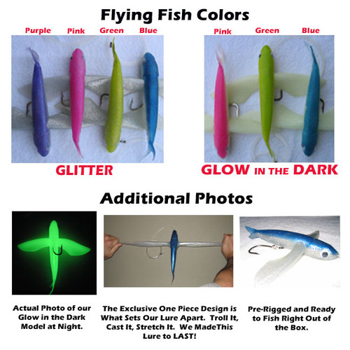 Frenzy Ballistic Flying Fish Lure - Pink Glitter
