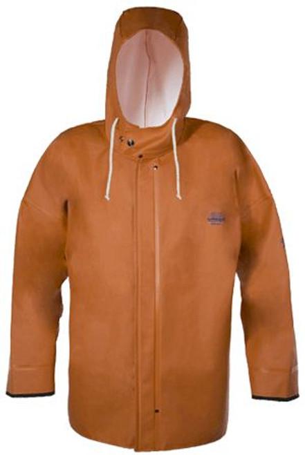 Grundens Brigg 44 Hooded Jacket Parker - Orange - Small