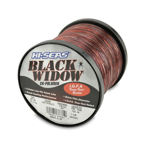 Hi Seas Black Widow 1lb Spool Test: 37 Kg / 80#