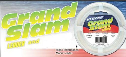 Hi Seas Grand Slam Leader 5lb Coil Black Test: 150