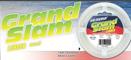 Hi Seas Grand Slam Leader 5lb Coil Black Test: 300