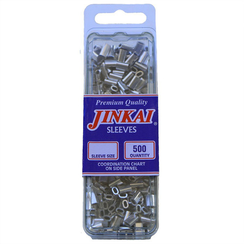 Jinkai Aluminum Sleeves 500 Pack Size H: 175-250#
