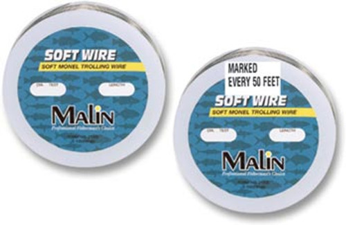 Malin Monel Soft Wire 300 Ft Spools - Premarked every 50 ft 50#