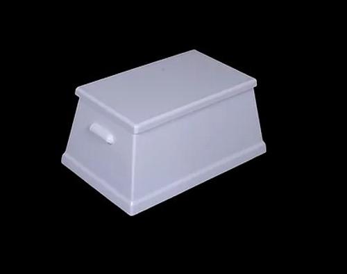 Classic Style Fiberglass Step Boxes Includes White Non-Skid Top & Fiberglass Scalloped Handles