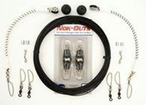 Rupp Marine Black Mono Double Rigging Kit w/ KLICKER Releases - Pair