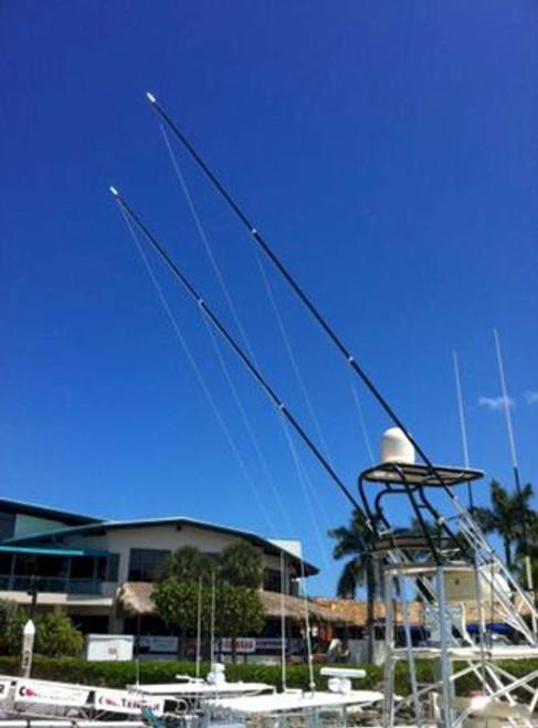 Rupp Marine Carbon Fiber Top Gun Poles 18' - Fixed - Pair