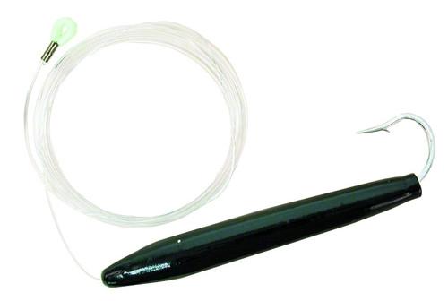 Sea Strike 6 inch Rigged Cedar Plug (1 per pack)- Black