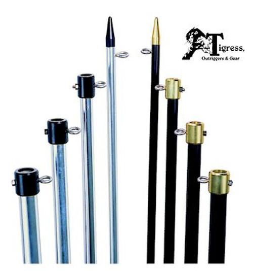 Tigress Premium Aluminum Outrigger Poles 18' 1-1/2 BG