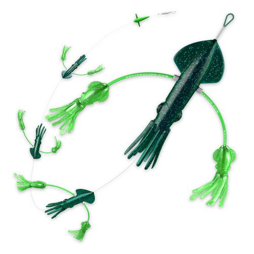 Squidnation Flippy Floppy Daisy Chain Super Dark Green
