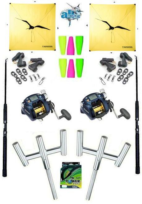 Alltackle Complete Electric Daiwa TB-1000 Dual Kite Set
