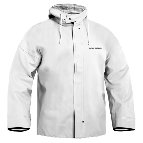 BRIGG 40 COMMERCIAL FISHING JACKET DESCRIPTION A jacket made for professional fisherman. 100% waterproof heavyweight PVC coated cotton-poly material to keep you dry and comfortable in the toughest conditions.