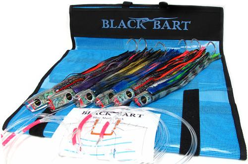 Black Bart Blue Marlin Rigged Lure Pack Single Hooks Fluorocarbon