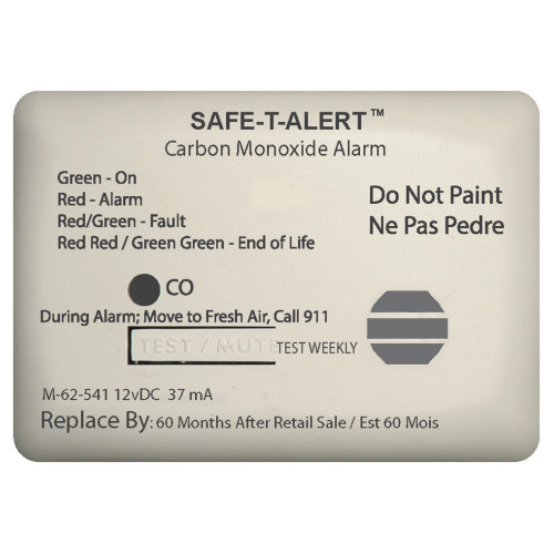 Safe-T-Alert 62 Series Carbon Monoxide Alarm w\/Relay - 12V - 62-541-Marine-RLY-NC - Surface Mount - White