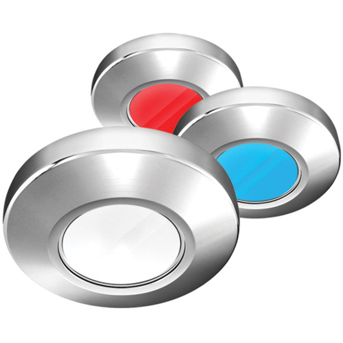 i2Systems Profile P1120 Tri-Light Surface Light - Red, White & Blue - Brushed Nickel Finish