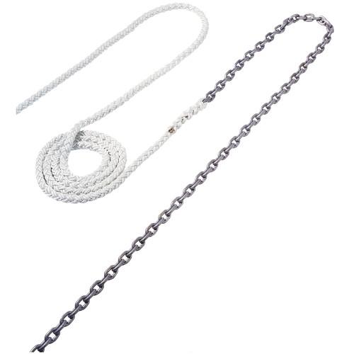 "Maxwell Anchor Rode - 25'-3\/8"" Chain to 250'-5\/8"" Nylon Brait"