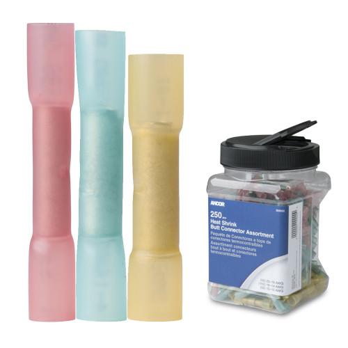 Ancor Heat Shrink Butt Connector Multi-Pack - 250-Piece - Jar