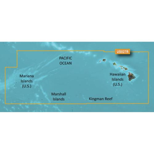 Garmin BlueChart g2 HXUS027R - Hawaiian Islands - Mariana Islands - microSD\/SD