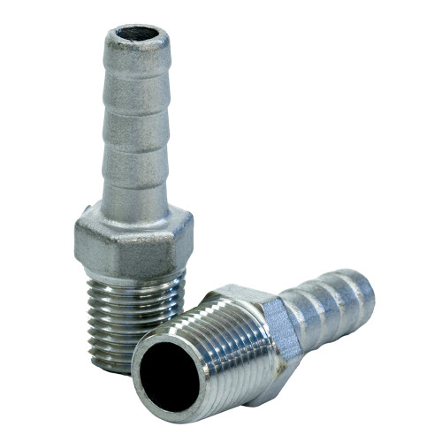 """Tigress Stainless Steel Pipe to Hose Adapter - 1\/4"""" IPS"""