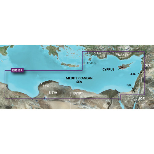 Garmin BlueChart g2 - HXEU016R - Mediterranean Southeast - microSD\/SD