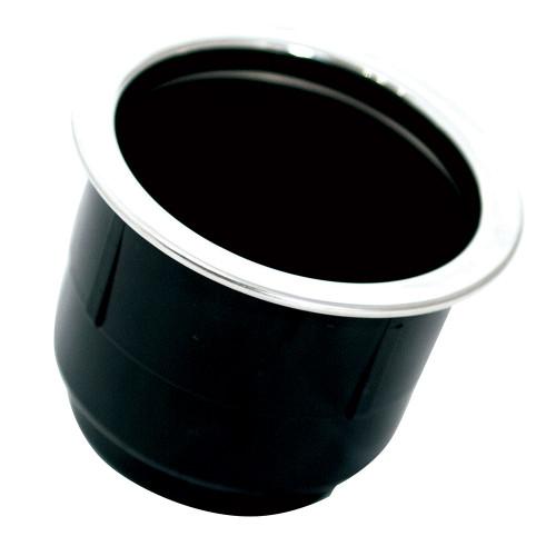 Tigress Black Plastic Cup Holder Insert w\/SS Ring On Top