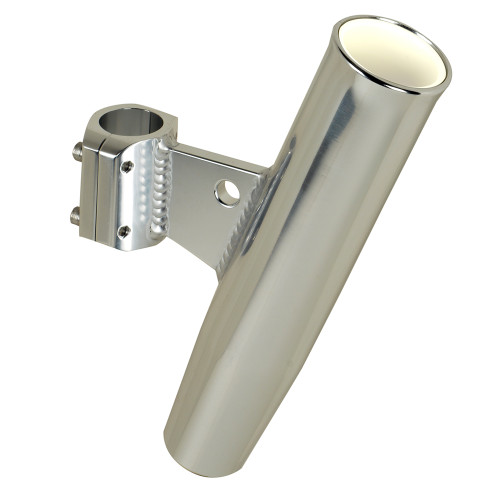 """C.E. Smith Aluminum Clamp-On Rod Holder - Vertical - 1.66"""" OD - Fits 1-1\/4"""" Pipe"""