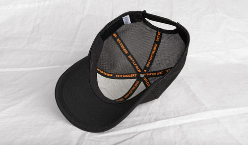 3c00414d45b24 ... Yeti Trucker Patch Hat Black on Black