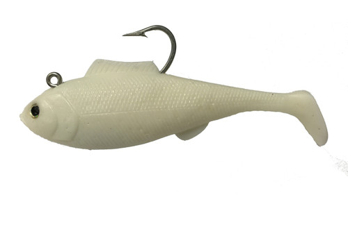 "Tsunami Heavy Swim Shad 6.5"" 2 pack Opaque White"