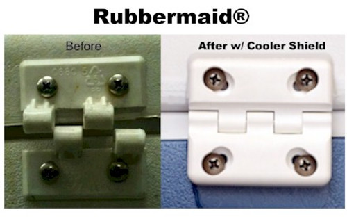 Cooler Shield Replacement Hinge for Rubbermaid Coolers - 4 Pack