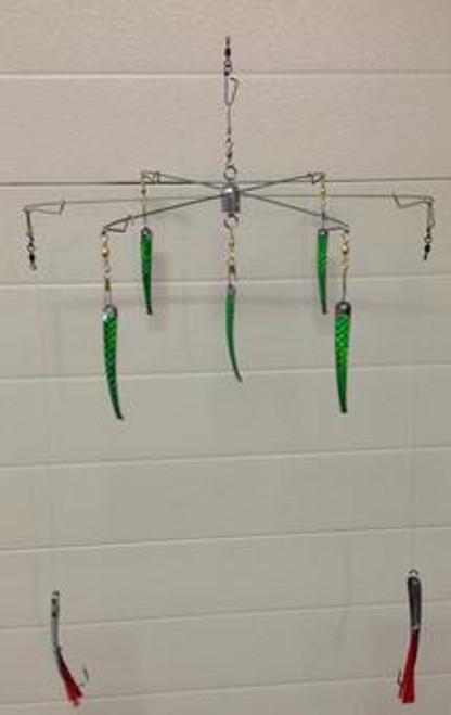 "Captain John's Spoonbrella 15"" w/ Dual Hookbaits Chartreuse"
