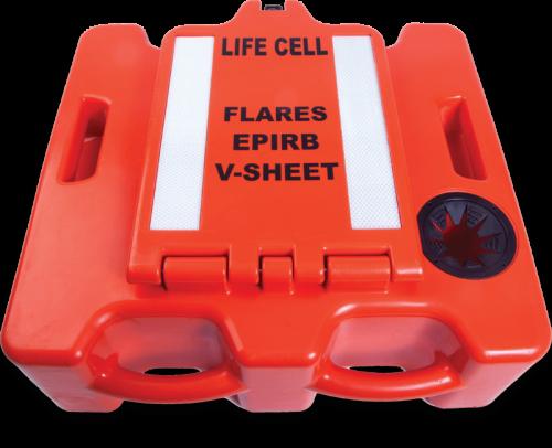 Life Cell Buoyant Flotation Device - The Trawlerman - 6 Man - Orange