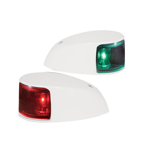 Hella Marine NaviLED Deck Mount Port & Starboard Pair - 2nm - Colored Lens\/White Housing