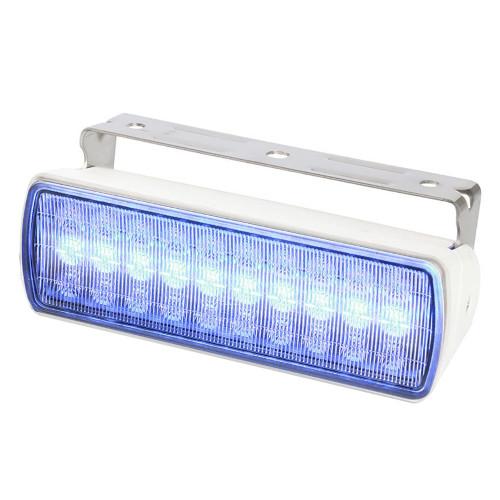 Hella Marine Sea Hawk XL Dual Color LED FloodLights - Blue\/White LED - White Housing