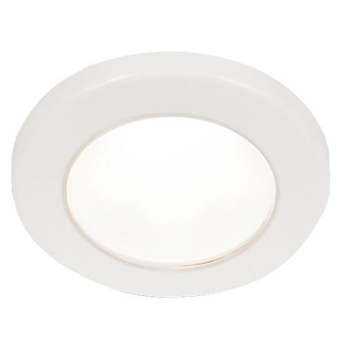 """Hella Marine EuroLED 75 3"""" Round Screw Mount Down Light - White LED - White Plastic Rim - 24V"""