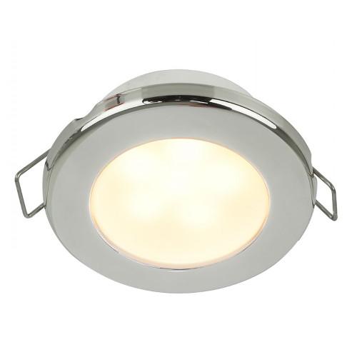 "Hella Marine EuroLED 75 3"" Round Spring Mount Down Light - Warm White LED - Stainless Steel Rim - 24V"
