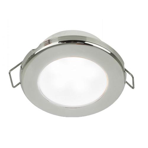 """Hella Marine EuroLED 75 3"""" Round Spring Mount Down Light - White LED - Stainless Steel Rim - 12V"""