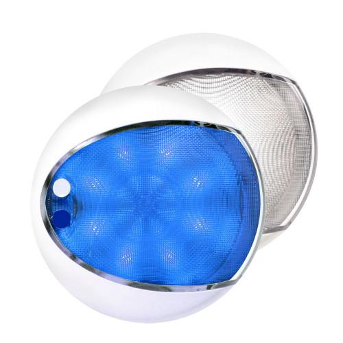 Hella Marine EuroLED 175 Surface Mount Touch Lamp - Blue\/White LED - White Housing