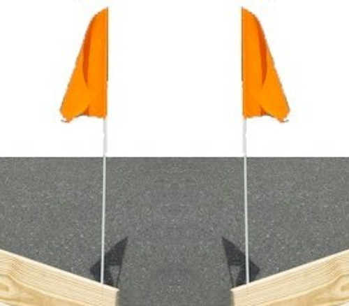Bloody Point Planer Board Flags - Pair