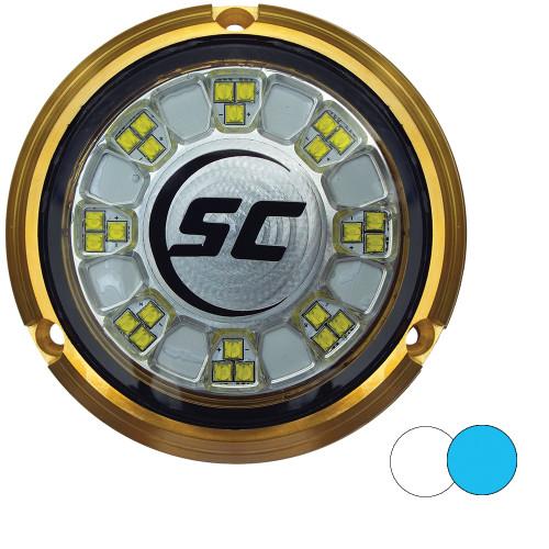 Shadow-Caster SCR-24 Bronze Underwater Light - 24 LEDs - Bimini Blue\/Great White