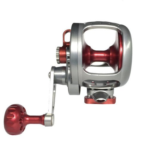 Seigler Reel OS  Smoke w/ Red Accents RH