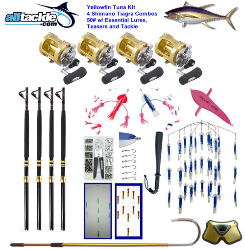 Alltackle Tuna Package - 4 x Shimano Tiagra 50 Combos w/ Essential Lures