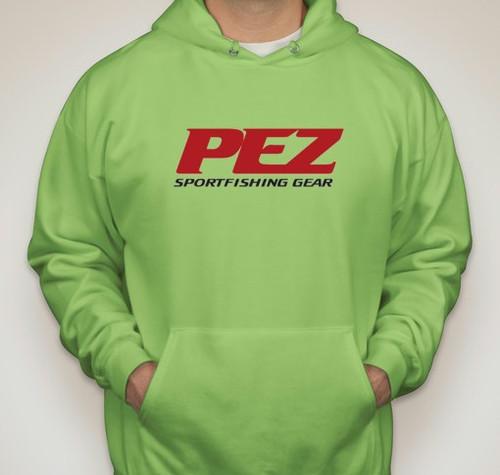 Pez Performance Fishing Hoodie -XL - Lime