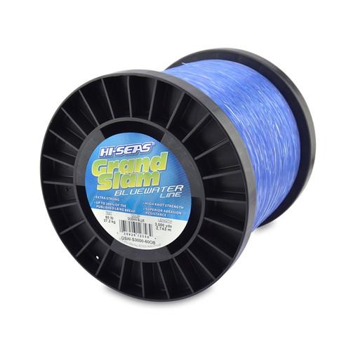 Hi Seas Grand Slam Bluewater 3000 yd Spool Blue Test: 60 (GSW-S3000-60OB)