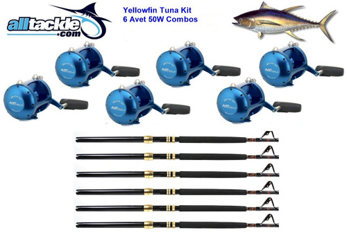 Alltackle 6 Combo Package - Avet 50# Reels, Rods and Line (ALLA50S6)