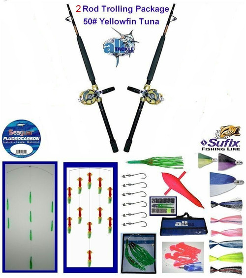 Alltackle Yellowfin Tuna 50# Trolling Package w/ 2 Rods/Reels
