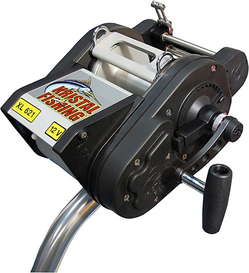 Kristal Electric Reel XL621-12V Manual Override Levelwind