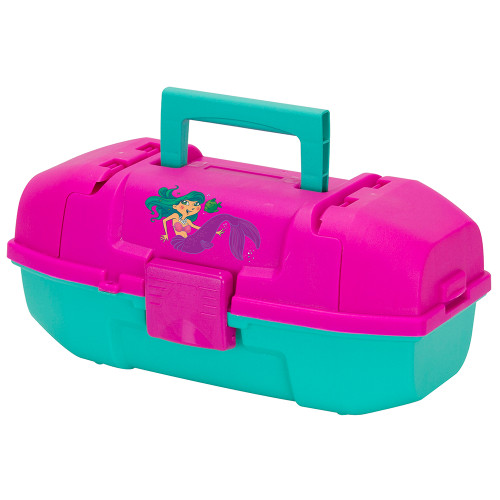 Plano Youth Mermaid Tackle Box - Pink\/Turquoise