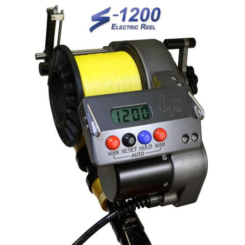 Lindgren Pitman S-1200 Electric Reel with Nylon Spool (for 80# Rod Butt)